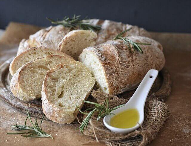kenyér, búzalisztből
